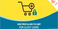 Hide price & add to cart users guest for