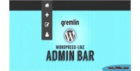 Like wordpress admin magento for bar