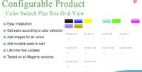 Magento color swatches plus view grid size