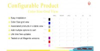 Magento configurable product color view grid size