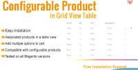 Magento configurable product in table view grid