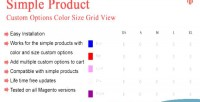 Magento custom options color view grid size
