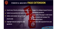 Magento powerful faqs extension