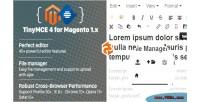 Magento tinymce4 module