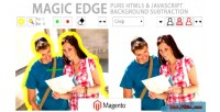 Magic edge image background magento for remover