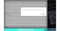 Mail e checkout for blacklist