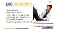 Management jobs magento for module