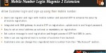 Number mobile login extension 2 magneto
