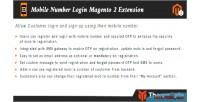Number mobile login extension 2 magneto
