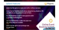 Online magebooking system booking event