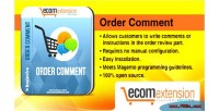 Order magento comment extension