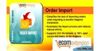 Order magento import extension