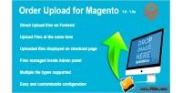 Order magento upload