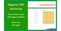 Page cms versioning