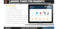 Pages landing for magento