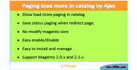 Paging load more in ajax by catalog