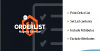 Pick order list 9 for 1 magento