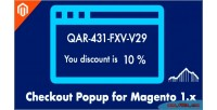 Popup coupon get coupon code with for discount the next 1 magento order