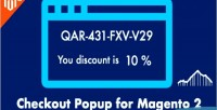 Popup coupon get coupon code with for discount the next 2 magento order