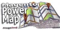 Power magento map