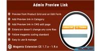 Preview admin extension magento button