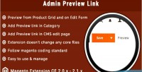 Preview admin link extension 2 magento
