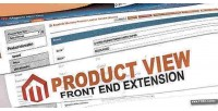 Product admin frontend in view