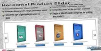 Product horizontal extension magento slider