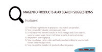 Products magento suggestions search ajax