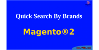 Quick magento2 brands by search