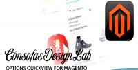 Quickview options for magento