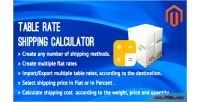 Rate table shipping extension magento calculator
