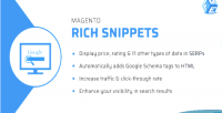 Rich magento snippets add extension tags schema google