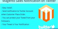Sales magento twitter on notification