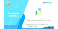 Sales recent notification 2 magento for