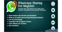 Sharing whatsapp for magento