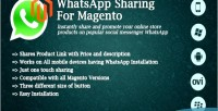 Sharing whatsapp for magento
