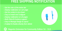Shipping free notice 1 extension magento for