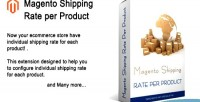 Shipping magento product per rate