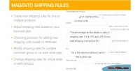 Shipping magento rules