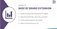 Shop magento by extension manufacturer brand