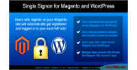 Single sign on for wordpress & magento