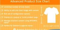 Size product chart pro