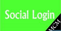 Social magento login