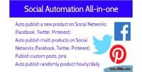 Social magento media automation