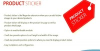 Sticker product mangento2 extension