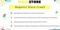 Store magento credit