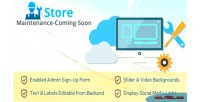 Store maintenance coming soon extension magento