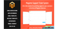 Support magento ticket system