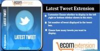 Tweet latest extension
